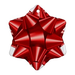 Red Bow Ornament (snowflake)
