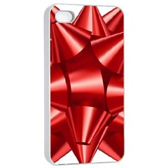 Red Bow Apple Iphone 4/4s Seamless Case (white)