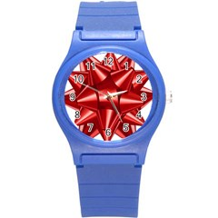 Red Bow Round Plastic Sport Watch (s)