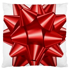 Red Bow Large Cushion Case (one Side)