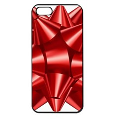 Red Bow Apple Iphone 5 Seamless Case (black)