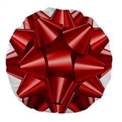 Red Bow Large 18  Premium Round Cushions