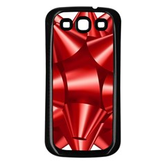 Red Bow Samsung Galaxy S3 Back Case (black)