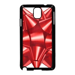 Red Bow Samsung Galaxy Note 3 Neo Hardshell Case (black)