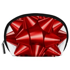 Red Bow Accessory Pouches (large)
