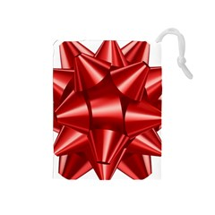 Red Bow Drawstring Pouches (medium)