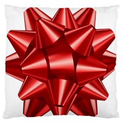Red Bow Standard Flano Cushion Case (one Side)