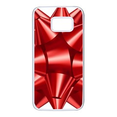 Red Bow Samsung Galaxy S7 White Seamless Case