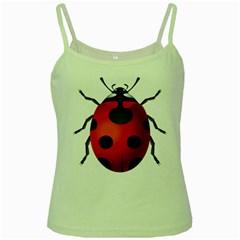 Ladybug Insects Green Spaghetti Tank