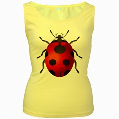 Ladybug Insects Women s Yellow Tank Top