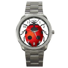 Ladybug Insects Sport Metal Watch
