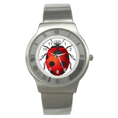 Ladybug Insects Stainless Steel Watch