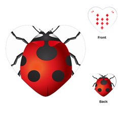 Ladybug Insects Playing Cards (heart)
