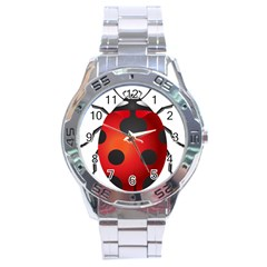 Ladybug Insects Stainless Steel Analogue Watch
