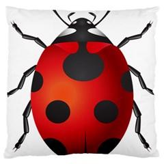 Ladybug Insects Large Cushion Case (one Side)