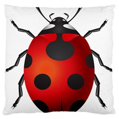 Ladybug Insects Standard Flano Cushion Case (two Sides)