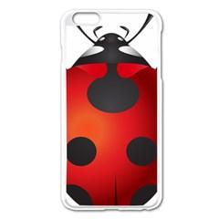 Ladybug Insects Apple Iphone 6 Plus/6s Plus Enamel White Case
