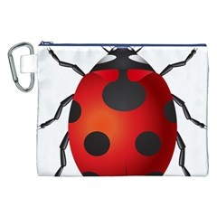 Ladybug Insects Canvas Cosmetic Bag (xxl)