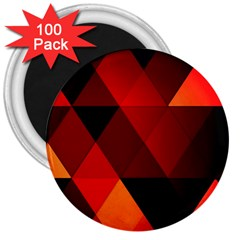 Abstract Triangle Wallpaper 3  Magnets (100 Pack)