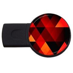 Abstract Triangle Wallpaper Usb Flash Drive Round (2 Gb)