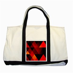 Abstract Triangle Wallpaper Two Tone Tote Bag