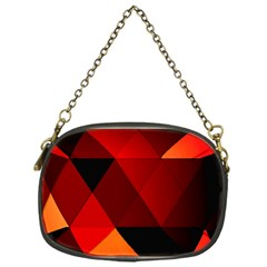 Abstract Triangle Wallpaper Chain Purses (one Side)
