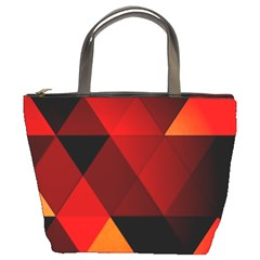 Abstract Triangle Wallpaper Bucket Bags