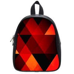 Abstract Triangle Wallpaper School Bags (small)