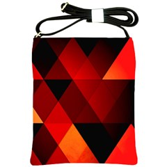 Abstract Triangle Wallpaper Shoulder Sling Bags