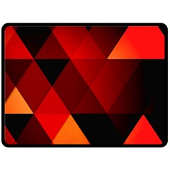 Abstract Triangle Wallpaper Fleece Blanket (large)