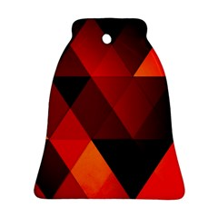 Abstract Triangle Wallpaper Bell Ornament (two Sides)