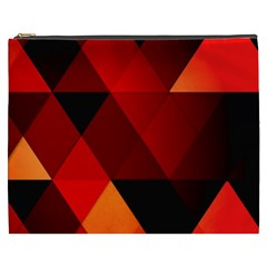 Abstract Triangle Wallpaper Cosmetic Bag (xxxl)