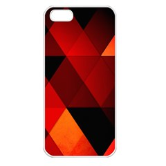Abstract Triangle Wallpaper Apple Iphone 5 Seamless Case (white)