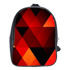 Abstract Triangle Wallpaper School Bags (xl)