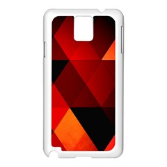 Abstract Triangle Wallpaper Samsung Galaxy Note 3 N9005 Case (white)