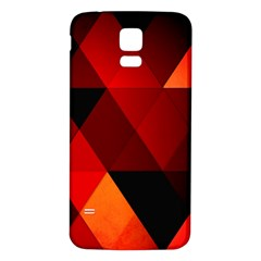 Abstract Triangle Wallpaper Samsung Galaxy S5 Back Case (white)