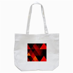 Abstract Triangle Wallpaper Tote Bag (white)