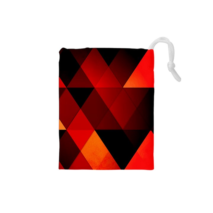 Abstract Triangle Wallpaper Drawstring Pouches (Small)