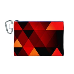 Abstract Triangle Wallpaper Canvas Cosmetic Bag (m)