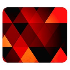 Abstract Triangle Wallpaper Double Sided Flano Blanket (small)