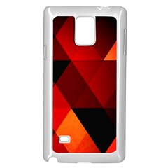 Abstract Triangle Wallpaper Samsung Galaxy Note 4 Case (white)