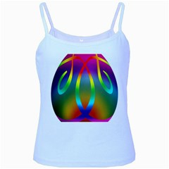 Colorful Easter Egg Baby Blue Spaghetti Tank