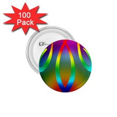 Colorful Easter Egg 1 75  Buttons (100 Pack)