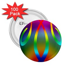 Colorful Easter Egg 2 25  Buttons (100 Pack)