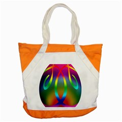 Colorful Easter Egg Accent Tote Bag