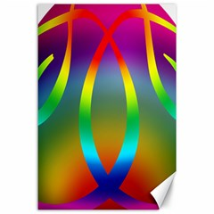 Colorful Easter Egg Canvas 24  X 36