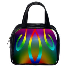Colorful Easter Egg Classic Handbags (one Side)