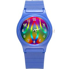 Colorful Easter Egg Round Plastic Sport Watch (s)