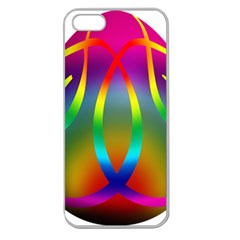 Colorful Easter Egg Apple Seamless Iphone 5 Case (clear)