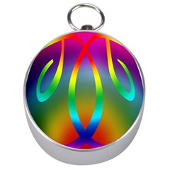 Colorful Easter Egg Silver Compasses